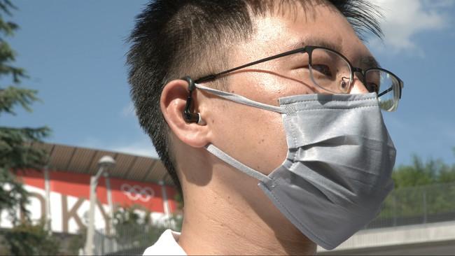 耳に装着する熱中症対策デバイス